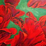 Petals Of Fire Art Print