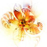 Petals Of Gold Art Print