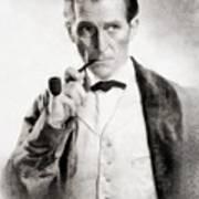 Peter Cushing As Sherlock Holmes Art Print