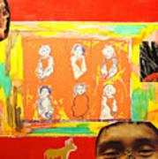 Peter six positions and Peru Art Print