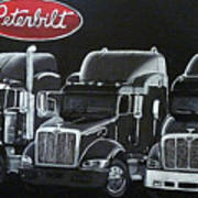 Peterbilt Trucks Art Print