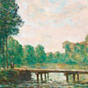 Petit Pont Sur L'orvanne Art Print