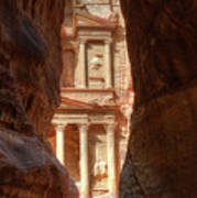 Petra Treasury Revealed Art Print