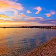 Petrcane Beach Golden Sunset View Art Print
