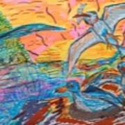 Petrels Art Print