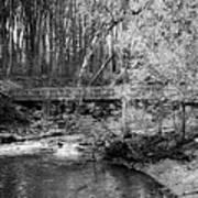 Petrifying Springs Park Bridge  Art Print