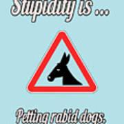 Petting Bigstock Donkey 171252860 Art Print