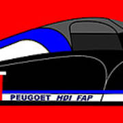 Peugeot 908 Hdi Sat - No. 7 Art Print