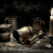 Pewter Still Life I Art Print