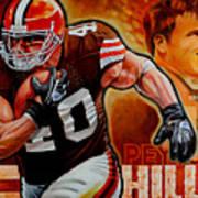 Peyton Hillis Art Print by Jim Wetherington