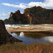Pfeiffer Beach Landscape In Big Sur Art Print