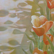 Phantom Tulips Art Print