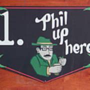 Phil Up Here Art Print