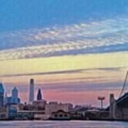 Philadelphia At Dawn Print by Bill Cannon