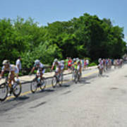 Philadelphia Bike Race - Manayunk Avenue Art Print