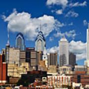 Philadelphia Blue Skies Art Print by Bill Cannon