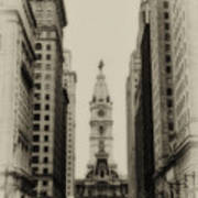 Philadelphia City Hall From South Broad Street Art Print
