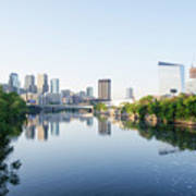 Philadelphia Cityscape Along The Schuylkill River Art Print