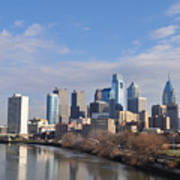 Philadelphia From The South Street Bridge Art Print by Bill Cannon