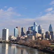 Philadelphia From The South Street Bridge Art Print