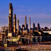 Philadelphia Oil Refinery  Art Print
