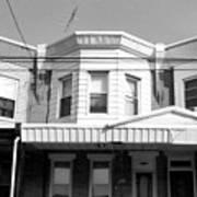 Philadelphia Row Houses - Black And White Art Print