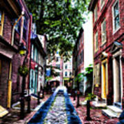 Philadelphia's Elfreth's Alley Art Print