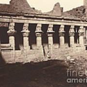 Philae, Cour Int?rieure, Colonnade De L'ouest Art Print