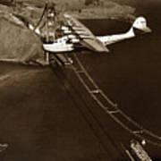 Philippine Clipper A Pan Am Clipper Over The Golden Gate Bridge  1935 Art Print