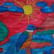 Philippine Kingfisher Painting Contest 4 Art Print