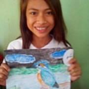 Philippine Kingfisher Painting Contest 7 Art Print