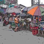 Philippines 708 Market Art Print