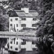 Philipsburg Manor House - Reflections - Bw Art Print