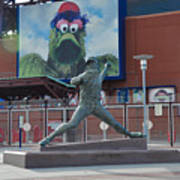Phillies Steve Carlton Statue Art Print