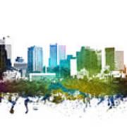 Phoenix Cityscape 01 Art Print