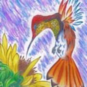 Phoenix Fire Hummingbird Art Print