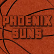 Phoenix Suns Leather Art Art Print