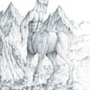 Pholus The Centauras Art Print