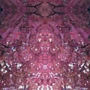 Photo 0800 Autumn Tree Leaves Fractal  E1 Mid Top  Art Print