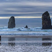 Photographer At Cannon Beach Art Print