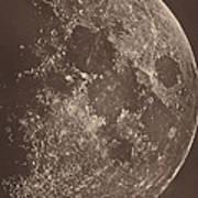 Photographie De La Lune A Son 1er Quartier Art Print