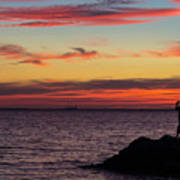 Photographing The Sunset Art Print