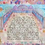 Physician Prayer- English Version Art Print