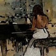 Pianist #0077 Art Print