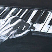 Piano Hands Plus Metronome Art Print