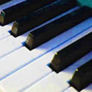 Piano Keys . V2 . Blue Art Print