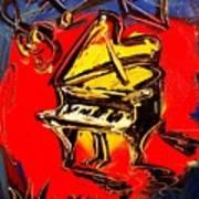 Piano Music Jazz Art Print