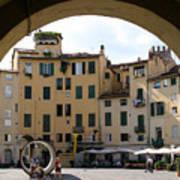 Piazza Antifeatro Lucca Art Print