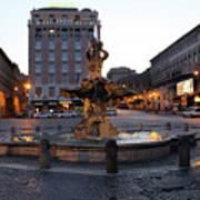Piazza At Night Art Print