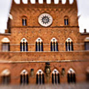Piazza Del Campo Tuscany Italy Art Print